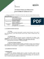 Manual de Normas Tecnicas Para Elaboracao de Projeto