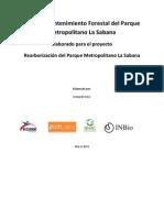 Plan de Mantenimiento Forestal del Parque Metropolitano La Sabana