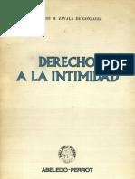Zavala de Gonzales - Derecho a La Intimidad