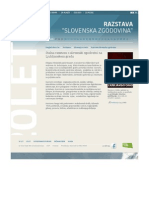 "Razstava ""Slovenska zgodovina"" 20 let samostojnosti"
