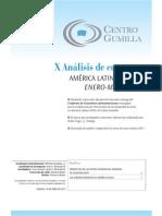 X análisis de coyuntura latinoamericana. Enero - Marzo 2011