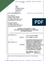 LIBERI v TAITZ (C.D. CA) - 181.1 - # 1 Memorandum - gov.uscourts.cacd.497989.181.1