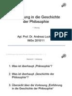 Einfuehrung in Die Geschichte Der Phi Lo Sophie WiSe 10-11 Sitzung 1