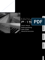 Yamaha p155 Manual