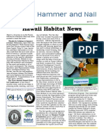 Hawaii Habitat for Humanity Q1 2011 Newsletter