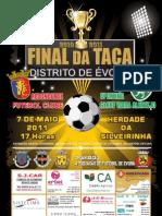 Cartaz da Final da Taça Distrital de Évora em Futebol