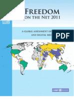 Internet Freedom Report 2011