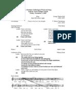 Evensong 2010 - Samford A Cappella Choir