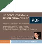Aviso de Primer Seminario de Catolico Urbano en Fatima El 24 de Mayo de 2011