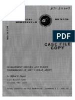 Development History and Flight Performance of SERT 2 Solar Array