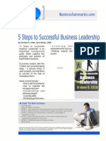 Steps to Successful Business Leadership