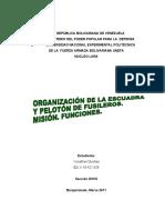 ORGANIZACIÓN DE LA ESCUADRA Y PELOTÓN DE FUSILEROS