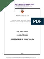 Nco1-Anexo4-Bioseguridad en Odontologia Norma Tecnica Minsa