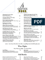 4 Olives Menu Page One