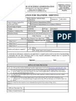 2011 CBA Shifting Application Form
