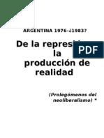 REPRESIÓN Y PRODUCCIÓN DE REALIDAD