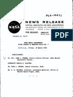 News Media Conference Pilot Change in Mercury-Atlas No. 7