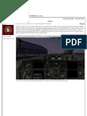 Captain Sim FMC Tutorial | Aviation | Aerospace Engineering