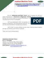 My Company Profile- Samadhan Machine Tools