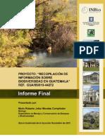 RECOPILACIÓN DE INFORMACIÓN SOBRE BIODIVERSIDAD EN GUATEMALA