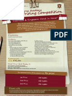 Essay Writing Competition Poster-2 SAMPOERNA ACADEMY