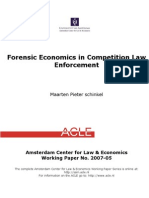 Forensic Econ in Competition Law Enforcement