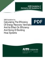 AHRI Guideline v 2003