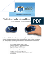 Gio - One-Handed Integrated Blood Glucose Meter