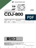 pioneer CDJ-800 service manual