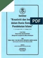 Umat Islam Dan Kreativiti-Mengorak Langkah Ke Masa Hadapan