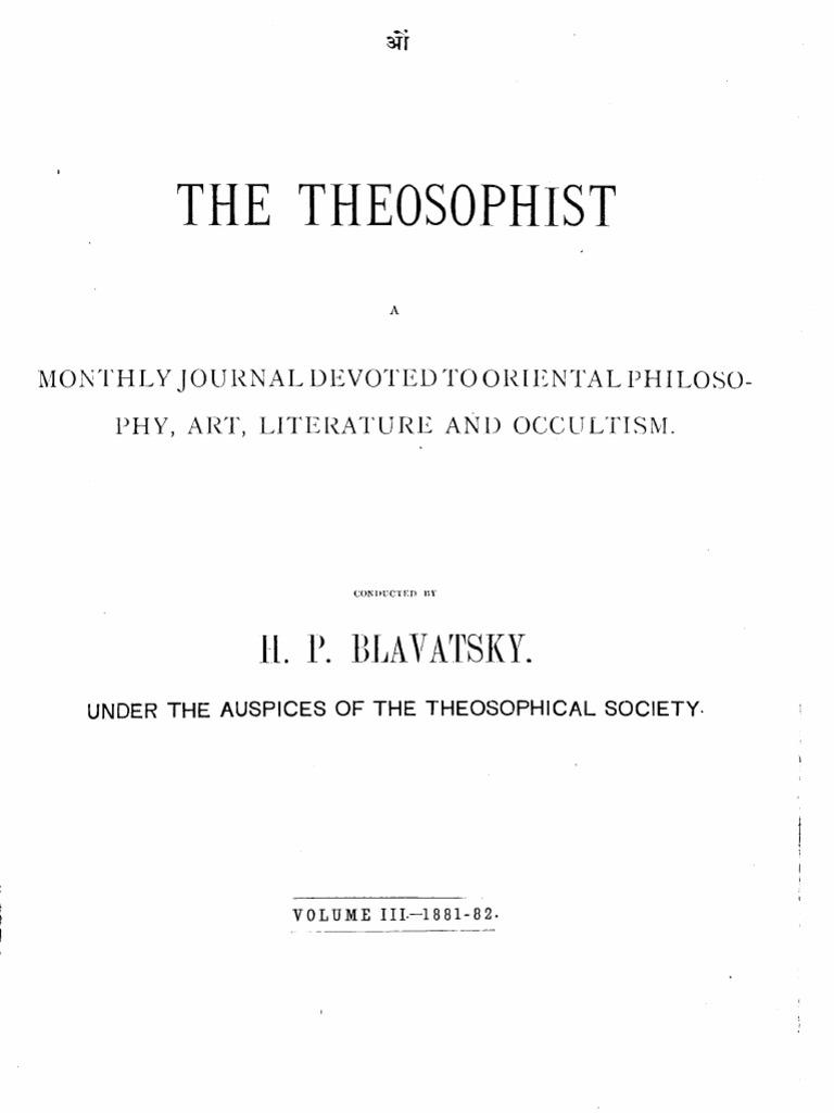 e2d0908b8892 The Theosophist Vol 3 - October 1881 - September 1882