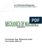 Mechanics Machine Lab