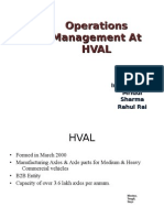 Analysis of Customer Requirement Fulfillment Process at HVAL