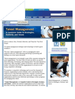 Issue of Talent Managent