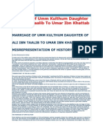 Marriage of Umm Kulthum Daughter Ofali Ibn Taalib to Umar Ibn Khattab