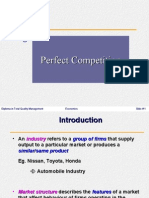 Perfect Competition Wd Notes
