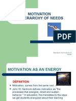 Motivation and Maslow Hierarchy of Needs
