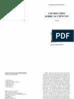 Boaventura de Sousa Santos - Um discurso sobre as Ci+¬ncias