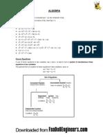 Algebra - Quantitative Aptitude for CAT EBOOK