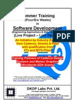 Summer Training in Software Development