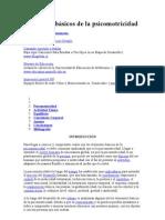 Elementos básicos de la psicomotricidad