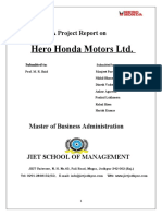 52261416 Copy of a Project Report on Hero Honda(2)