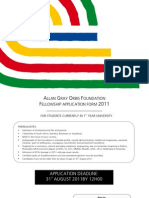 2011 University Application Form FINAL Bursary