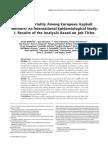 Cancer Mortality Among European Asphalt Workers- An International Epidemiological Study