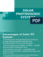 Solar Photo Voltaic Systems