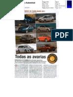 """QUAIS OS MODELOS COM MENOS AVARIAS NA """"GUIA DO AUTOMÓVEL"""""""