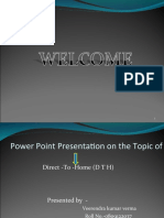 ppt on dth