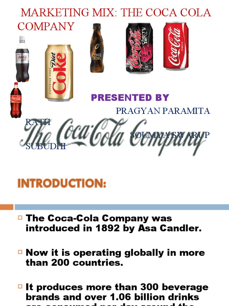 coca cola 7ps of marketing An evaluation of marketing strategies undertaken by coca cola company as a multinational wwwiosrjournalsorg 7 | page.