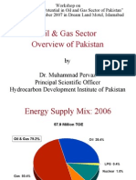 Oil and Gas Sector Overview of Pakistan- Dr Pervaiz