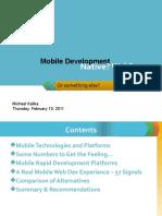 Mobile Development. Web? Native?